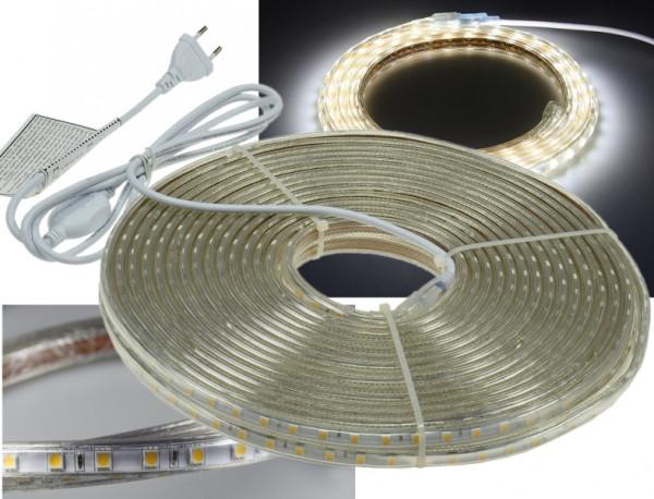 "230V LED Strip ""Ultra-Bright"" IP44 20m kaltweiss"