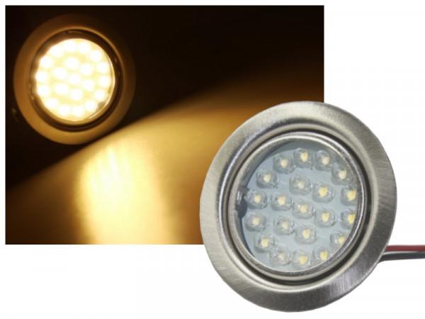 LED Einbauleuchte 21 LED 1,3W 100lm warmweiss