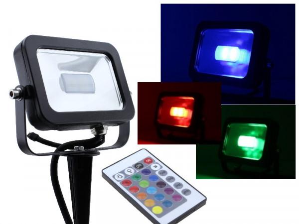 10W Slim RGB LED Fluter mit Erdspieß