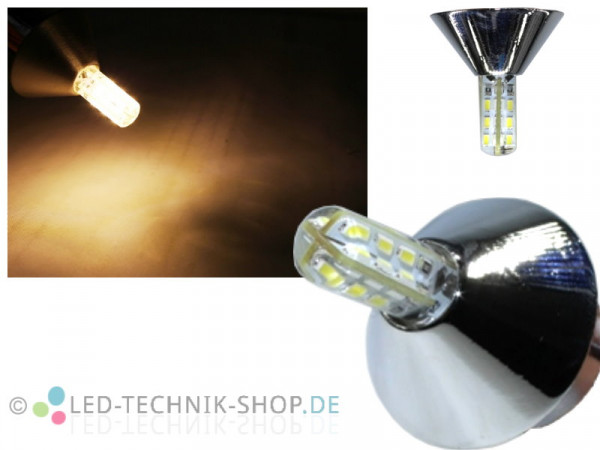 "LED Spot ""Conus"" chrom G4 1,5W 110lm warmweiss"