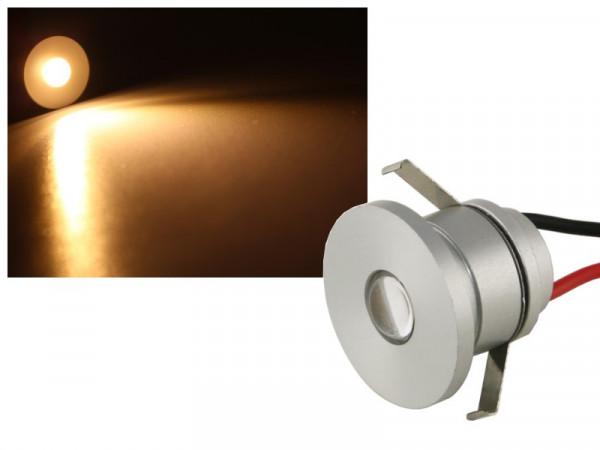 Alu Mini LED Power Spot IP44 1W warmweiss dimmbar