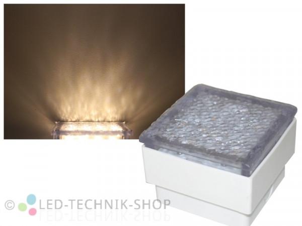 LED Bodeneinbauleuchte Pflasterstein 10x10 warmweiss