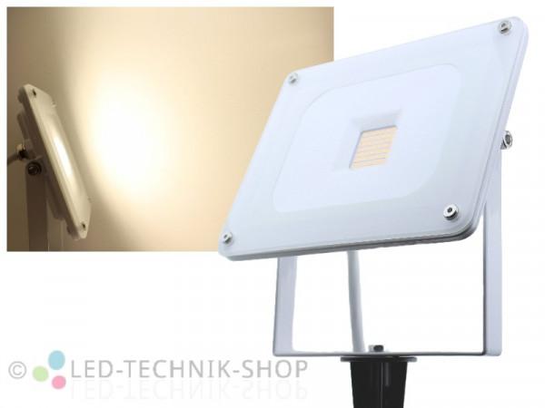 30W Glas Design LED Fluter Slim + Erdspieß neutralweiss