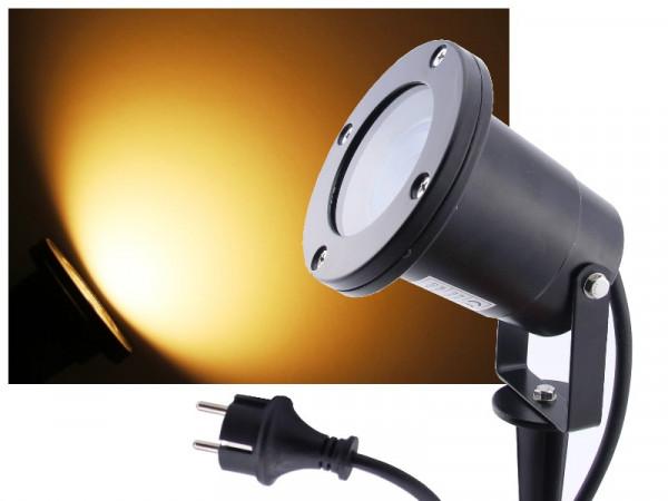 9W LED Außenstrahler 900lm warmweiss Alu schwarz