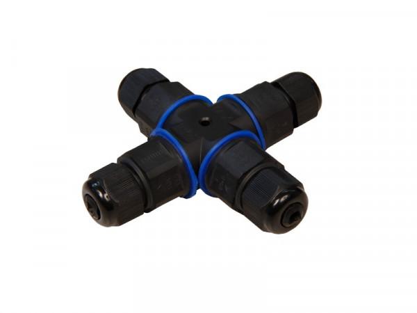 Kabelverbinder wasserdicht IP68 4-fach