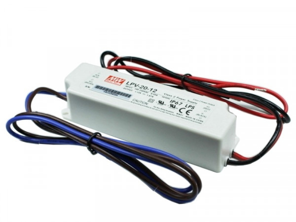 MeanWell LED Trafo IP67 wasserdicht 12V 20W