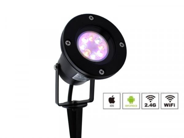 Erweiterungs-Strahler RGB+CCT Funk LED Gartenstrahler 2301SW