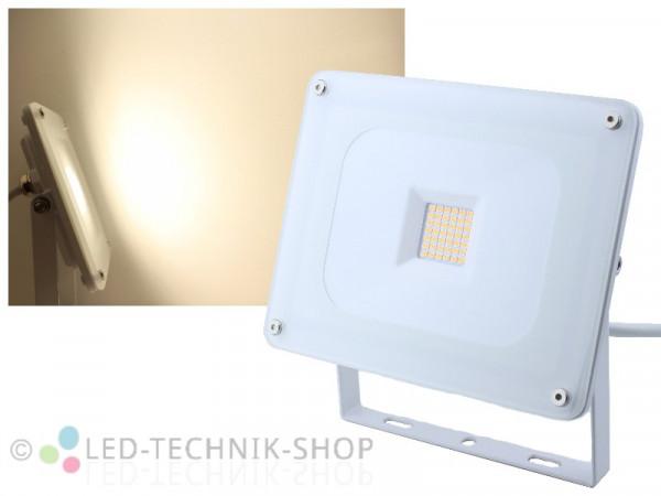 30W Glas Design LED Fluter Slim neutralweiss