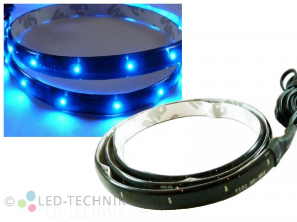 LED Black Strip IP65 30cm 15 LED blau