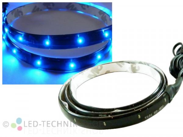 LED Black Strip IP65 30cm 15 LED blau