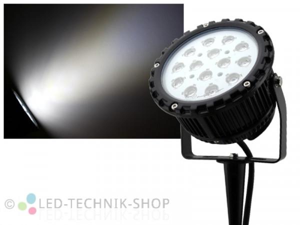LED Power-Strahler mit Erdspieß 15W kaltweiss