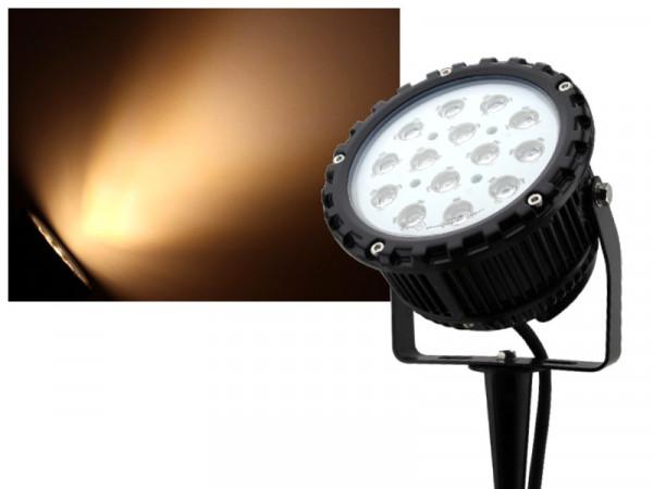 LED Power-Strahler mit Erdspieß 15W warmweiss