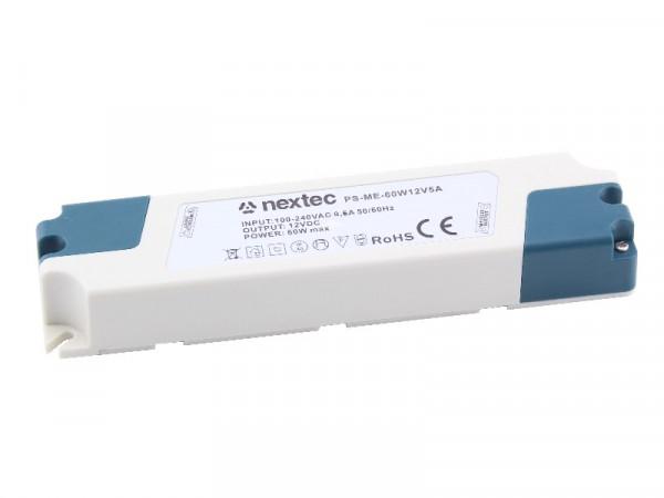 Nextec LED Trafo Netzteil Economy 12V 60W