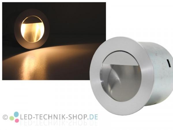 Edelstahl LED Wandeinbauleuchte 1W rund IP44