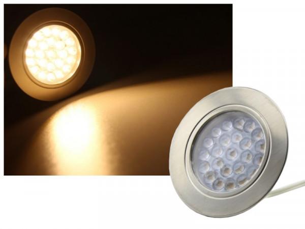 LED Einbaustrahler Downlight 24 LED warmweiss
