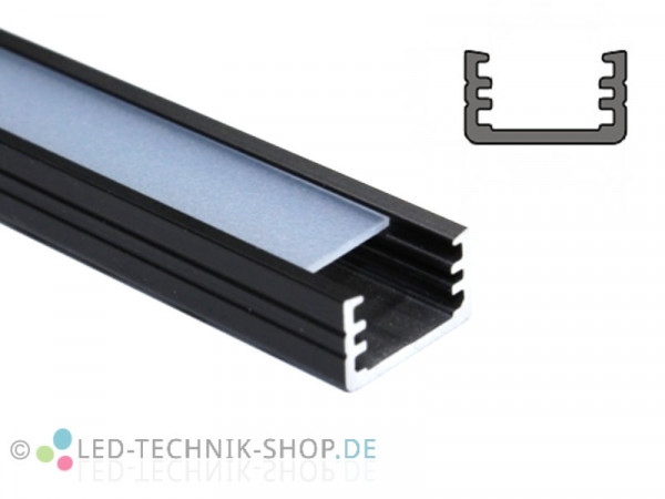 Alu LED Profil LTS-10 Black