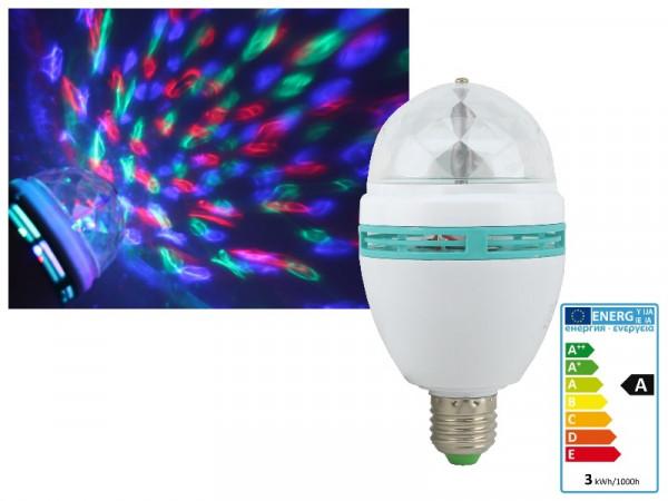 Disco Effekt RGB LED Lampe E27 3W