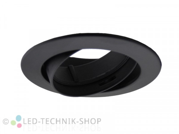 Einbaufassung schwenkbar GU10 230V schwarz-matt