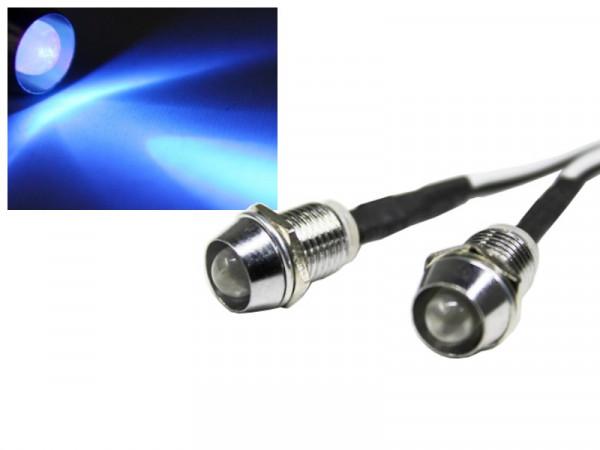 Edelstahl LED Spot Schraube blau 12V