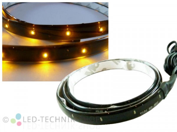 LED Black Strip IP65 60cm 30 LED gelb-orange