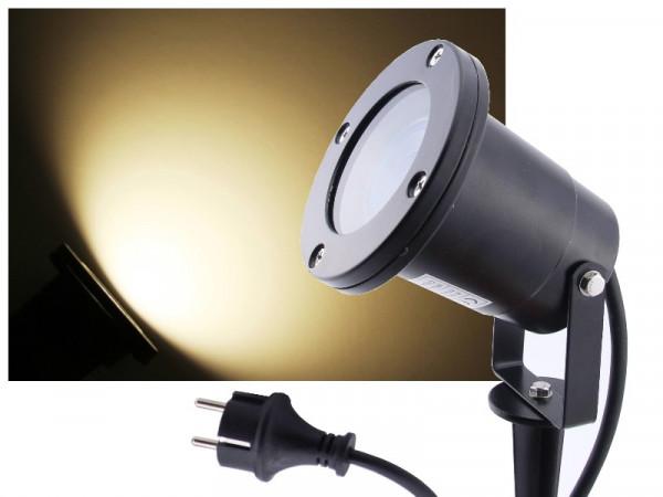 9W LED Außenstrahler 900lm neutralweiss Alu schwarz