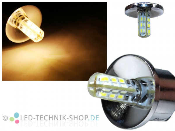 "LED Spot ""Glow"" chrom G4 1,5W 110lm warmweiss"