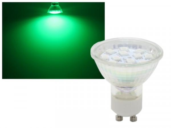 LED Strahler GU10 1,5W grün