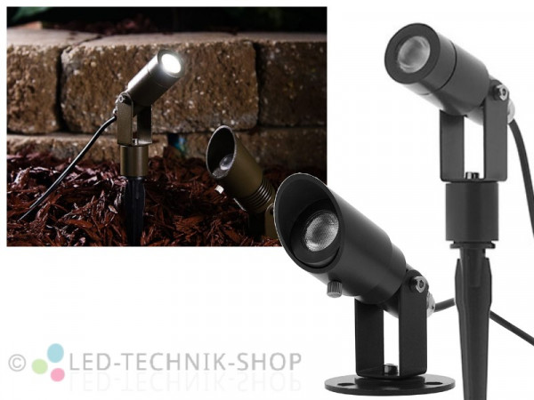 """Vario-Pro"" CREE LED Gartenstrahler 6W warmweiss"
