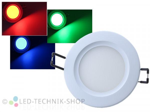 LED Einbauleuchte RGB 24V 7W