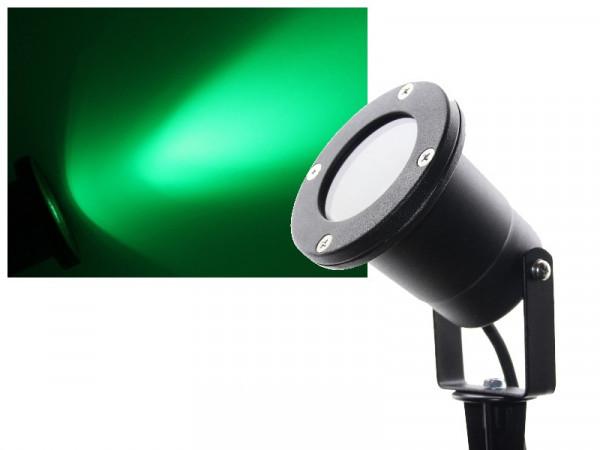 3W Power LED Gartenstrahler mit Erdspieß 230V grün