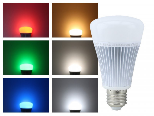 Mi-Light Smart LED E27 8W RGB+CCT FUT015 Leuchtmittel