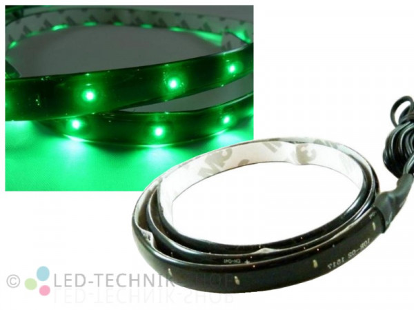 LED Black Strip IP65 30cm 15 LED grün