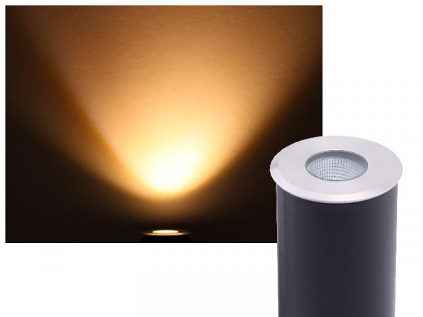 Bodeneinbaustrahler COB LED 230V 3W warmweiss