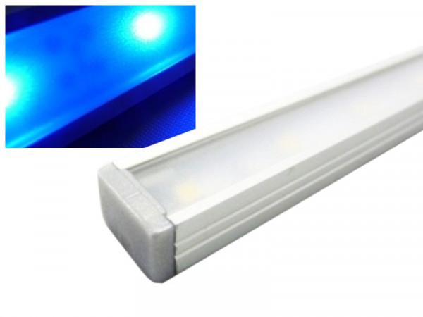 Alu LED Leiste Slim blau