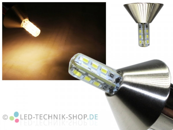 "LED Spot ""Conus"" chrom-matt G4 1,5W 110lm warmweiss"