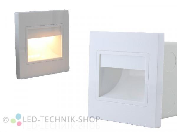 Wandeinbauleuchte COB LED 230V 1,5W warmweiss