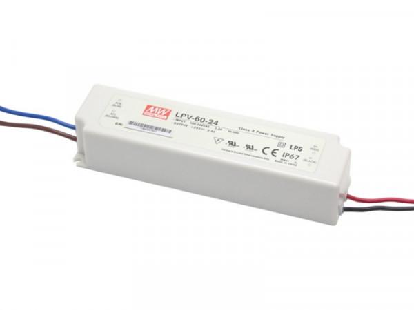 LED Trafo MW IP67 wasserdicht 24V 60W