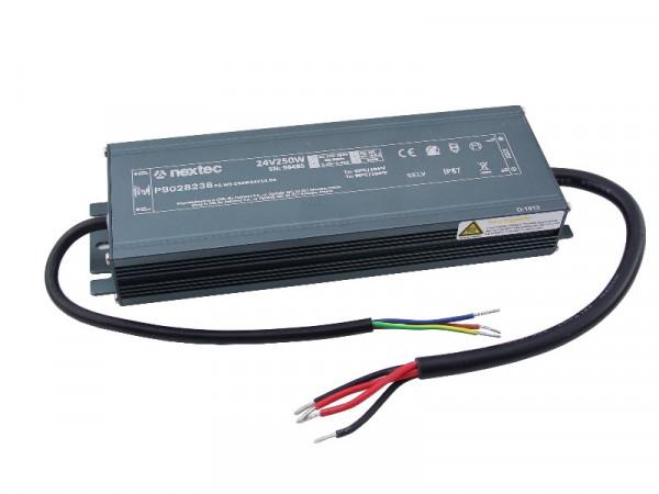 Nextec LED Trafo Slim IP67 24V 250W