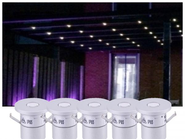 Premium LED Beleuchtung Terrassenüberdachung warmweiss