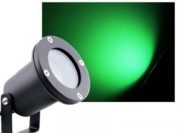 7W LED Anbau-/ Unterwasserstrahler IP68 grün