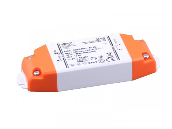 LED Konstantstrom Trafo 350mA 15W dimmbar