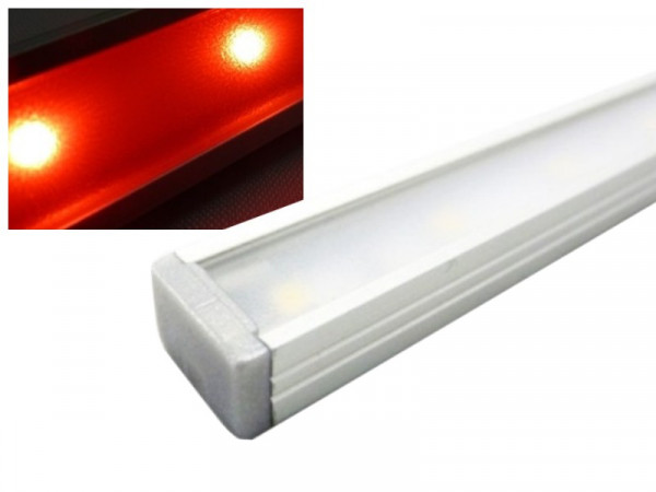 Alu LED Leiste Slim rot