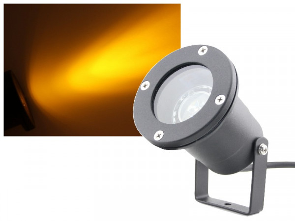 3W Power LED Gartenstrahler 230V gelb orange