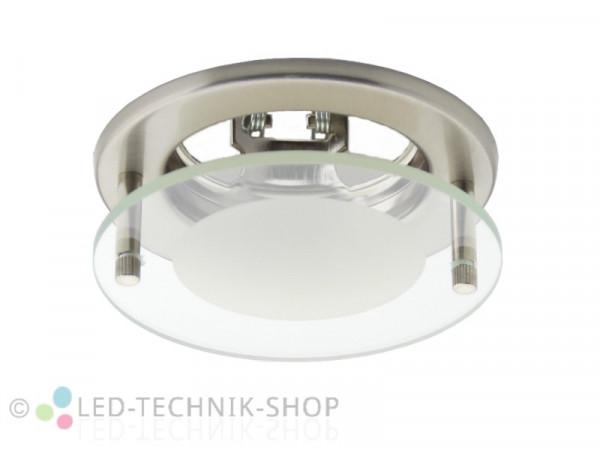 Einbaufassung Glas-Deko GU5.3 MR16 chrom-matt