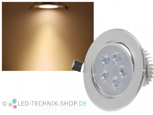 LED Downlight 5W 450 Lumen wamweiss