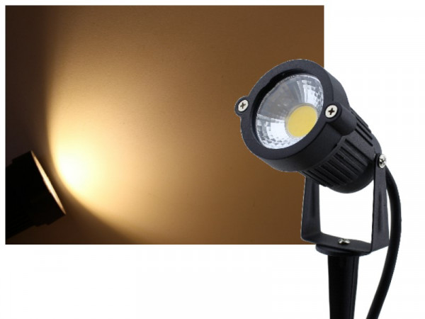 Mini LED Gartenstrahler COB 5W 430 Lumen warmweiss