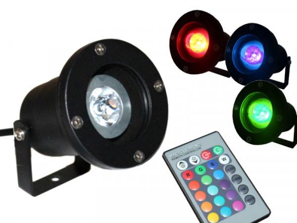 4W RGB LED Gartenstrahler Anbaustrahler