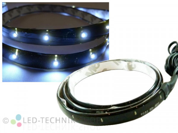 LED Black Strip IP65 60cm 30 LED weiss