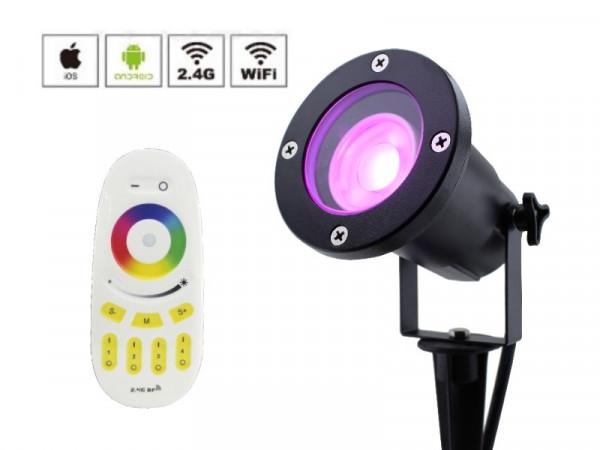 Starter-Set Funk LED Gartenstrahler RGB+CW