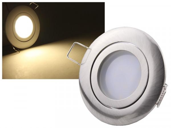LED Einbauleuchte Eco Edelstahl 5W neutralweiss dimmbar